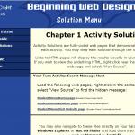 solution menu