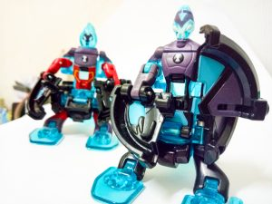 blue robot toys