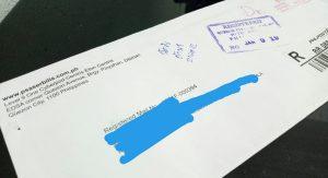 white envelop
