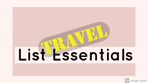 banner travel list essentials