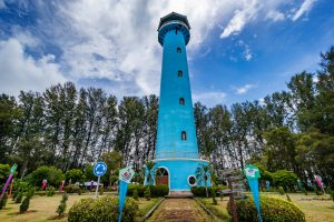 towering blue tower- 5 Reasons You Should Visit Rajamangala Trang Aquarium