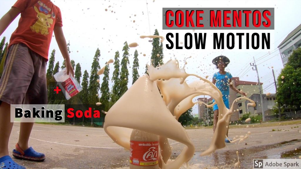 slow motion coke geyser- Five Fun Ways to Use the Soda and Mentos Experiment With