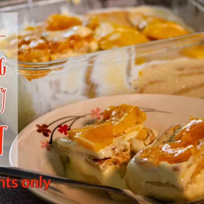 mango float dessert