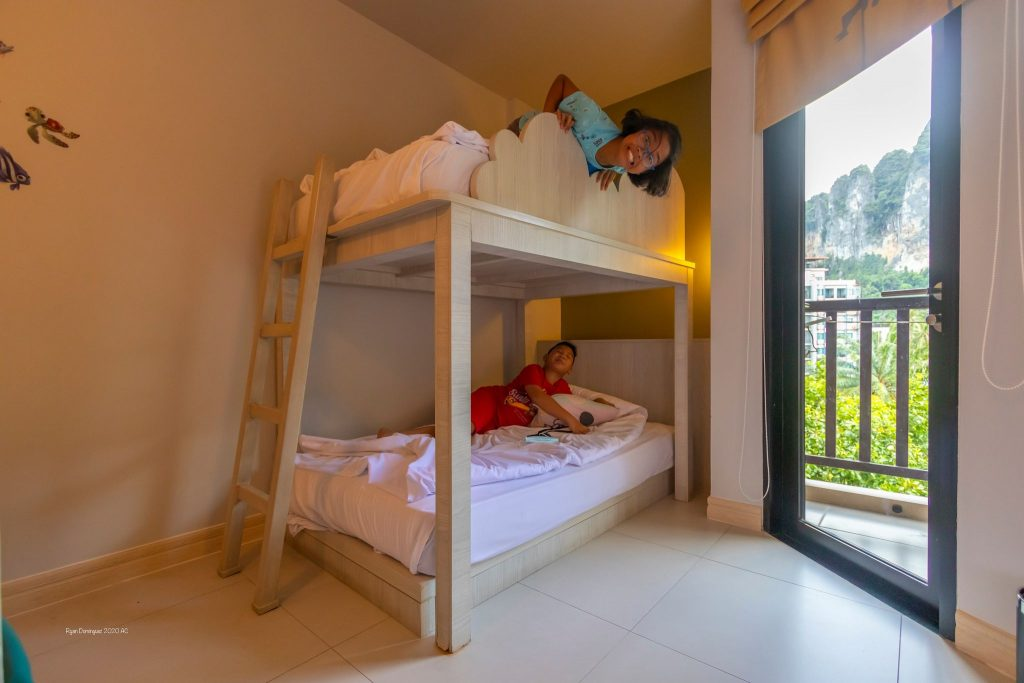 kids on a bunk bed